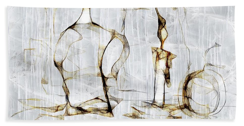 Abstraction Beach Towel featuring the digital art Abstraction 2426 by Marek Lutek