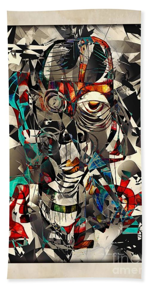 Abstraction Beach Towel featuring the digital art Abstraction 2502 by Marek Lutek