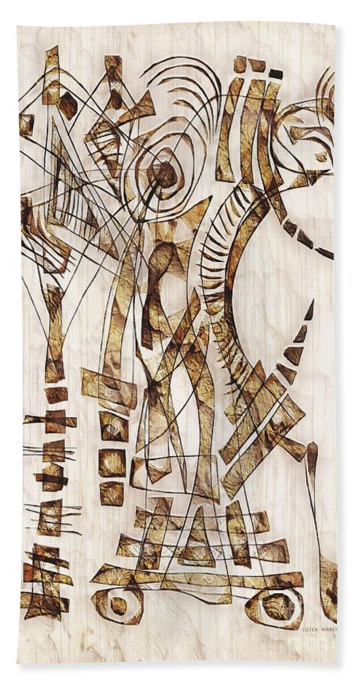 Abstraction Beach Towel featuring the digital art Abstraction 2565 by Marek Lutek