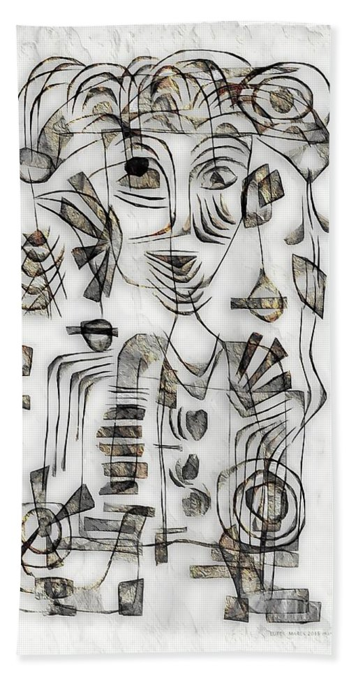 Abstraction Beach Towel featuring the digital art Abstraction 2573 by Marek Lutek