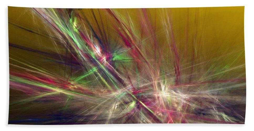 Fine Art Digital Art Beach Towel featuring the digital art Abstracty 110310 by David Lane