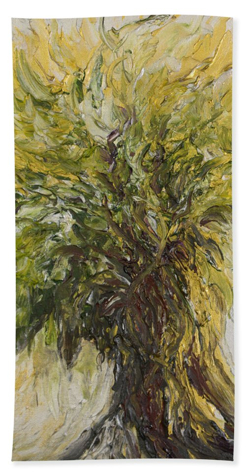 Abundance Beach Towel featuring the painting Abundance Tree by Michelle Pier