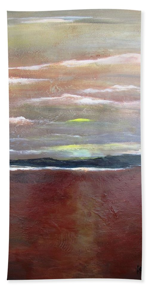 Sun Beach Towel featuring the painting Across The Horizon by Gary Smith