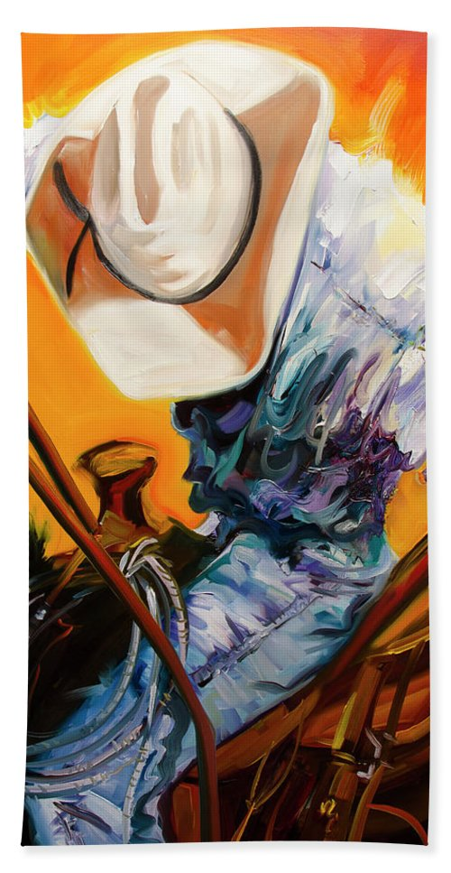 Rodeo Beach Towel featuring the painting Action Jackson by Diane Whitehead