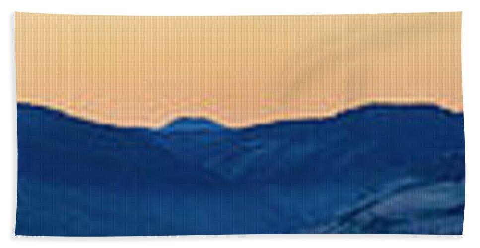 Beach Towel featuring the photograph Adams From Roweena by Joseph Broschart