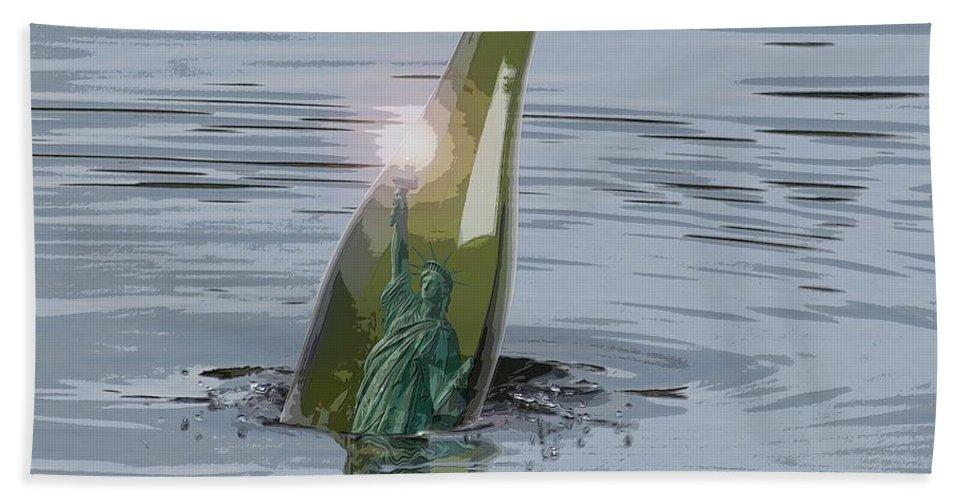 Adrift Beach Towel featuring the photograph Adrift by I'ina Van Lawick