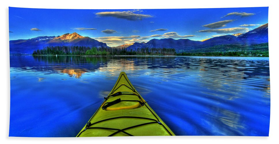 Kayak Beach Towel featuring the photograph Adventure by Scott Mahon