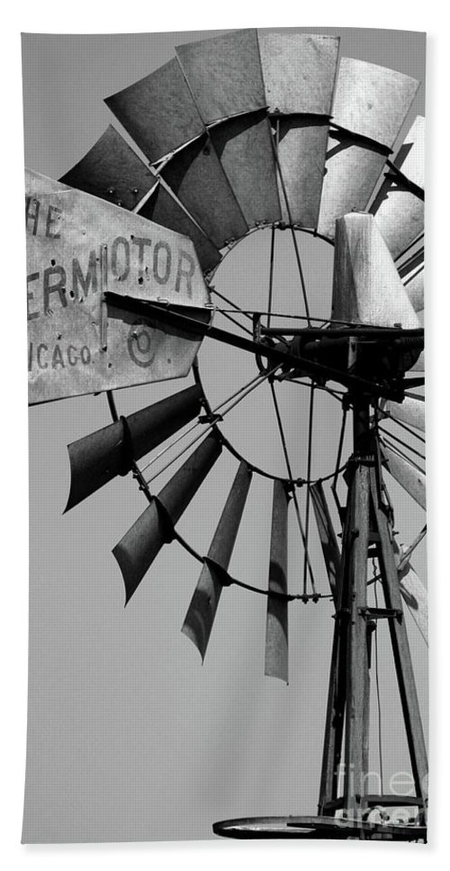 Griculture Beach Towel featuring the photograph Aeromotor by Alan Look