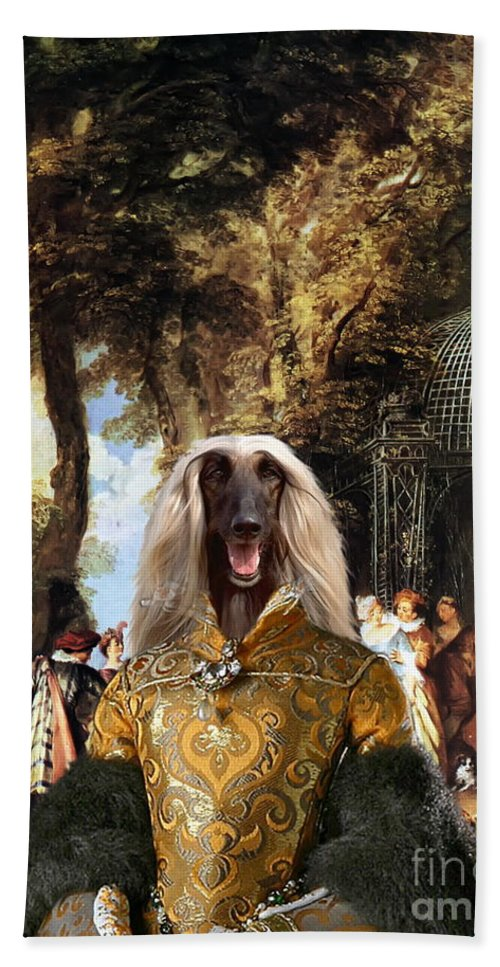 Afghan Hound Canvas Beach Towel featuring the painting Afghan Hound-the Winch Canvas Fine Art Print by Sandra Sij