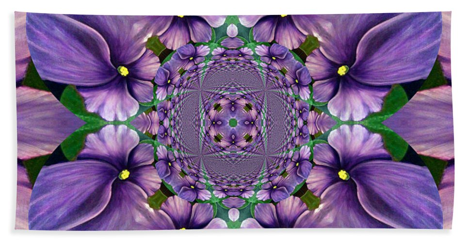 African Violet Wave Beach Towel featuring the digital art African Violet Wave by Barbara Griffin