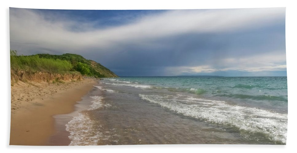 Storm Beach Sheet featuring the photograph After The Storm by Heather Kenward