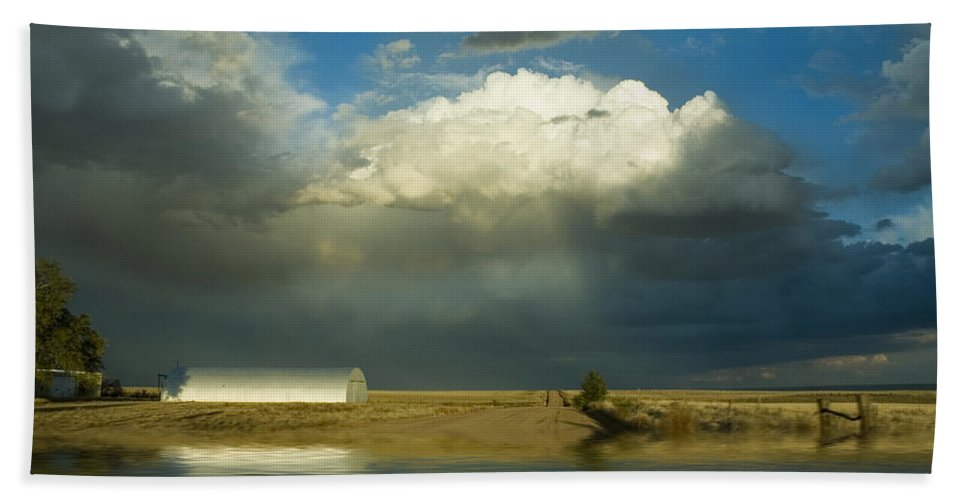 Storm Beach Sheet featuring the photograph After The Storm by Jerry McElroy