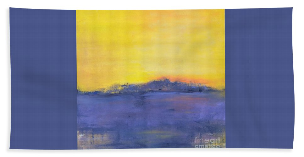 Storm Beach Towel featuring the painting After The Storm by Patricia Caldwell