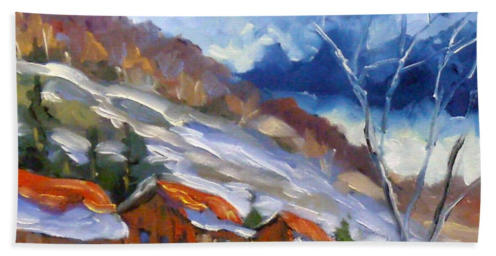 Art Beach Towel featuring the painting After The Storm by Richard T Pranke