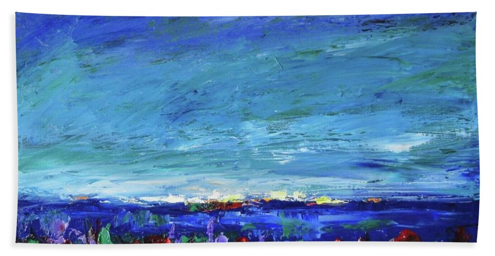 Palette Knife Beach Towel featuring the painting After The Storm by Shannon Grissom