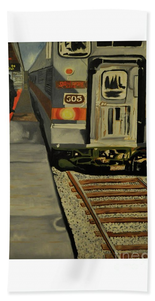 Beach Towel featuring the painting After Work by Jesse Johnson