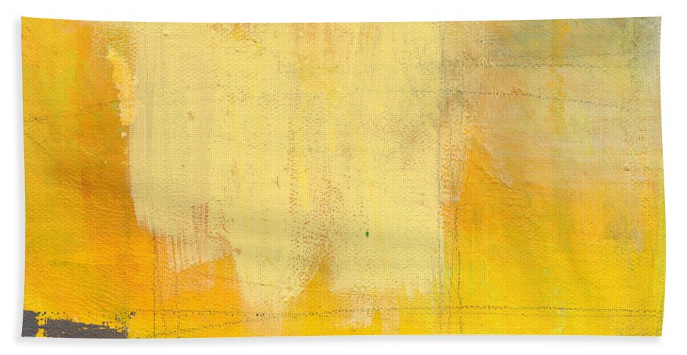 Abstract Beach Towel featuring the painting Afternoon Sun -Large by Linda Woods