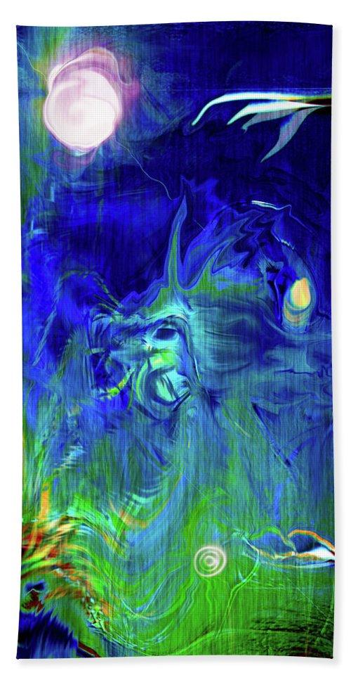 Digital Art Beach Towel featuring the digital art Afterwish by Linda Sannuti