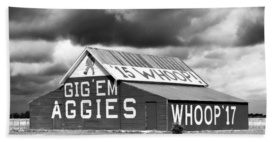 Aggie Barn Beach Towel featuring the photograph Aggie Barn #2 by Denise Deskin