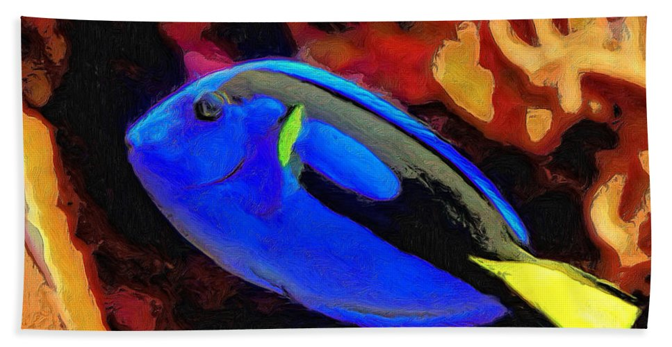 Fish Beach Towel featuring the painting Agnes by Dominic Piperata