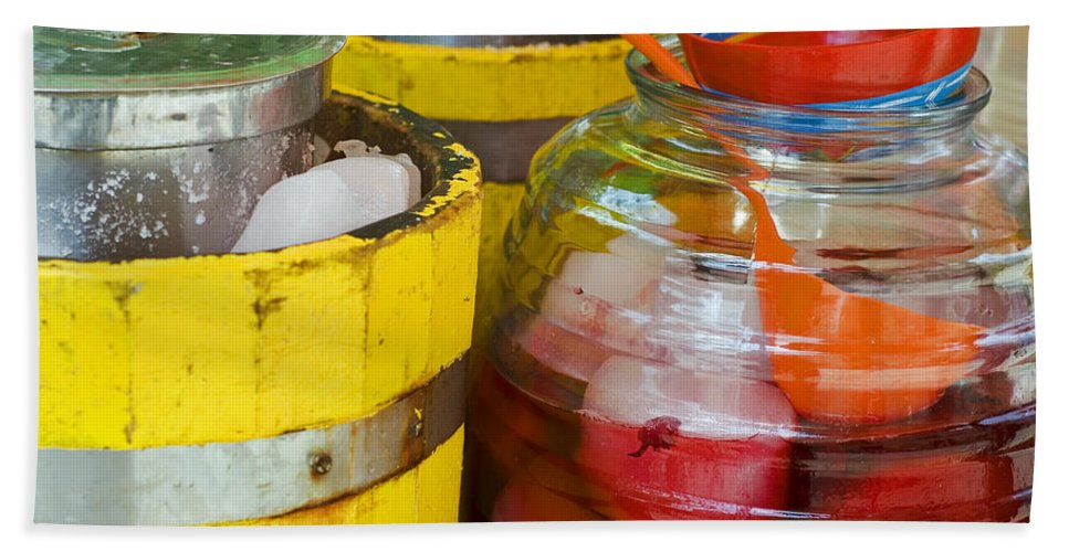 Beverage Beach Sheet featuring the photograph Agua De Hamaica by Skip Hunt