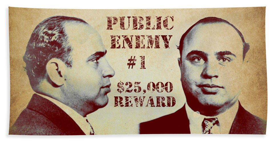 b3ea28f126 Al Capone Most Wanted Poster Beach Towel for Sale by Mindy Sommers
