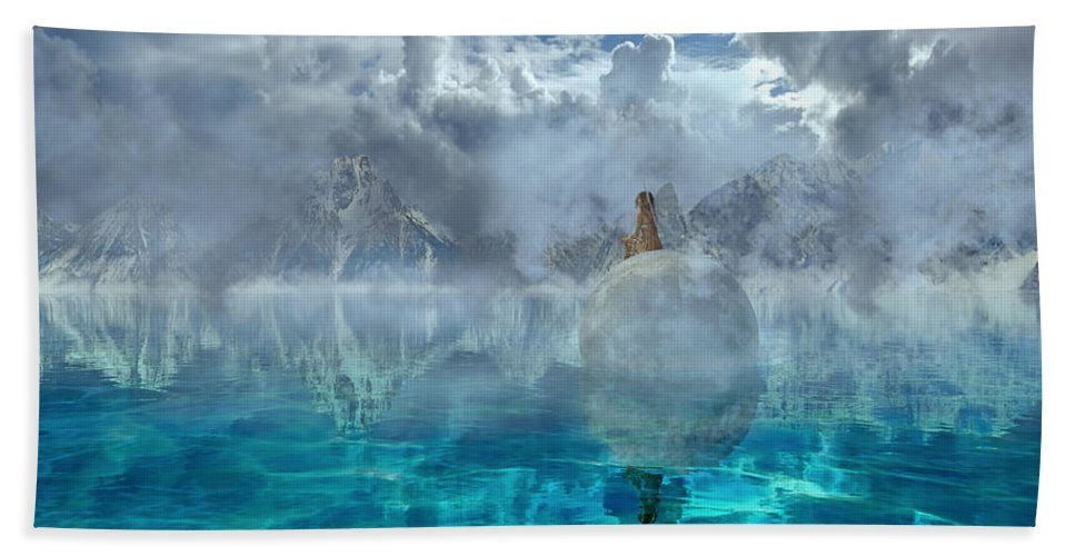 3d Beach Towel featuring the digital art Alaskan Avalon by Betsy Knapp