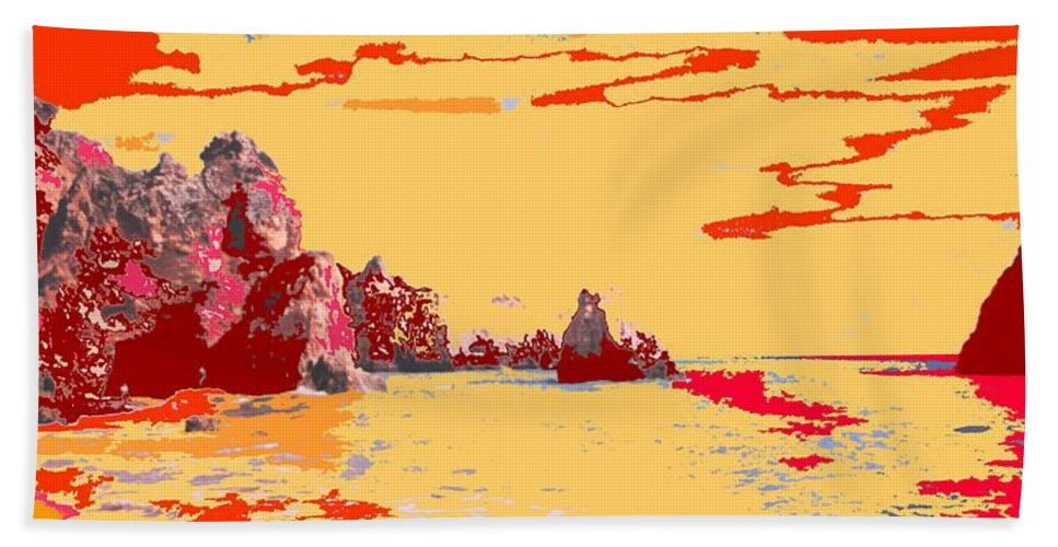 Mediterranean Beach Towel featuring the photograph Algarve Sunrise by Ian MacDonald