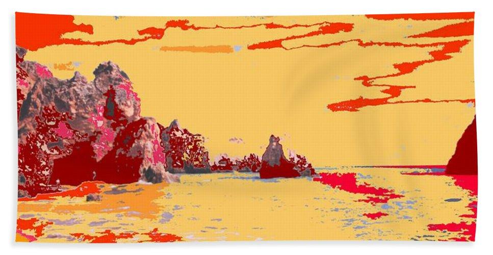 Mediterranean Beach Sheet featuring the photograph Algarve Sunrise by Ian MacDonald