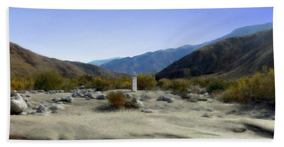 Desert Beach Sheet featuring the digital art Alignment by Snake Jagger
