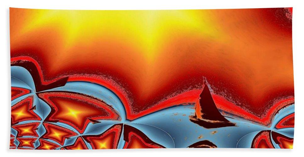Sail Beach Towel featuring the photograph Alki Sail Under The Sun 2 by Tim Allen