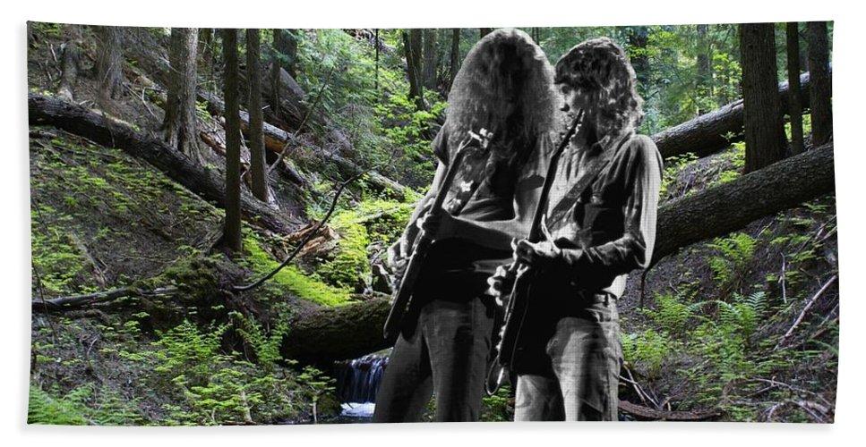 Allen Collins Beach Towel featuring the photograph Allen And Steve On Mt. Spokane by Ben Upham