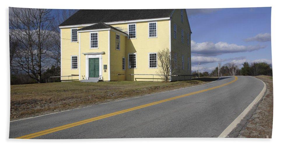Buildings Beach Sheet featuring the photograph Alna Meetinghouse - Alna Maine Usa by Erin Paul Donovan