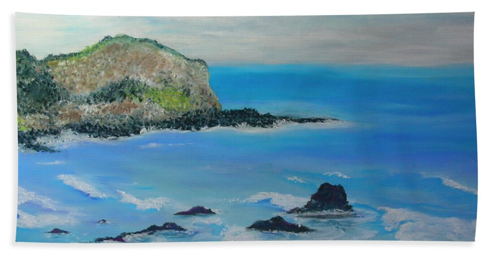 Hawaii Beach Towel featuring the painting Aloha by Melinda Etzold