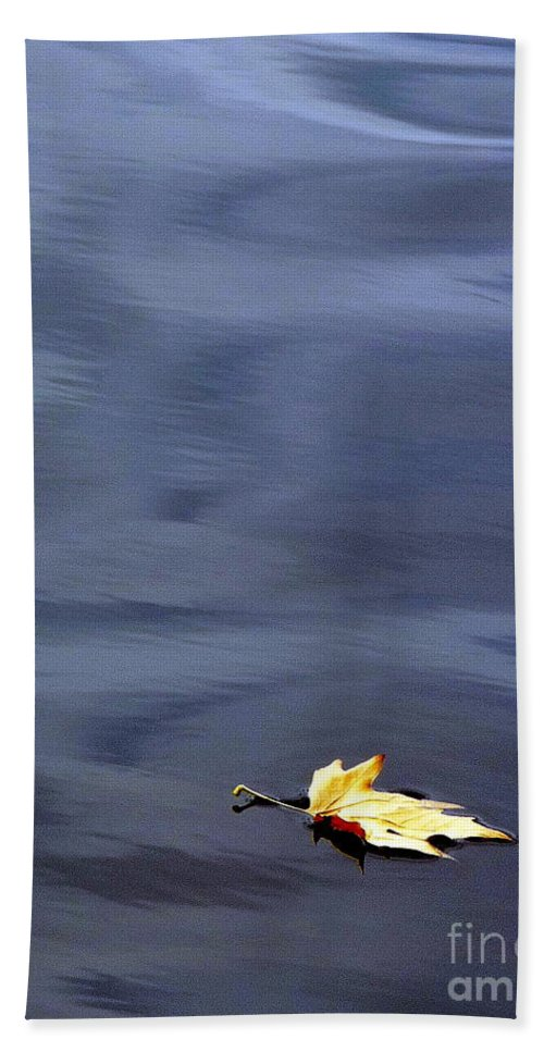 River Beach Towel featuring the photograph Alone by Jo Hoden