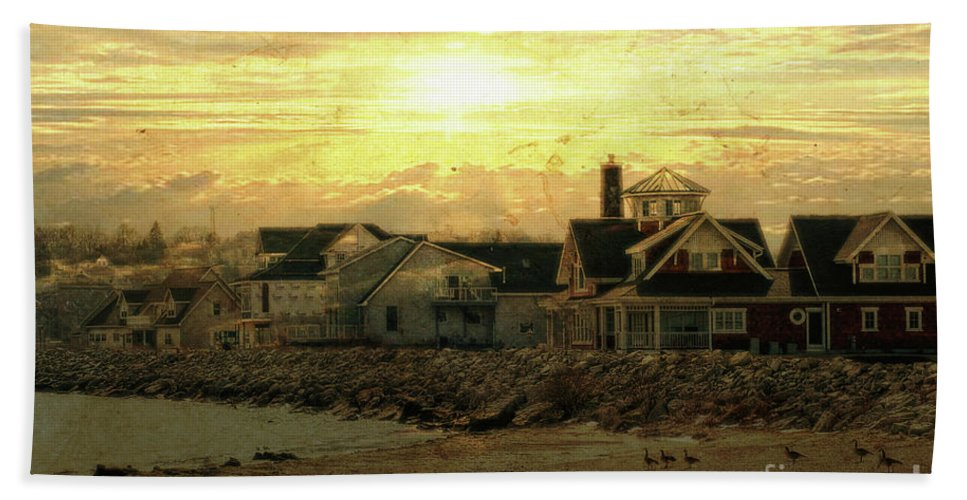 Shore Beach Towel featuring the photograph Along The Shores by Joel Witmeyer