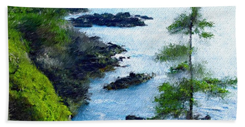 Digital Photograph Beach Towel featuring the photograph Along The West Coast 1 by David Lane