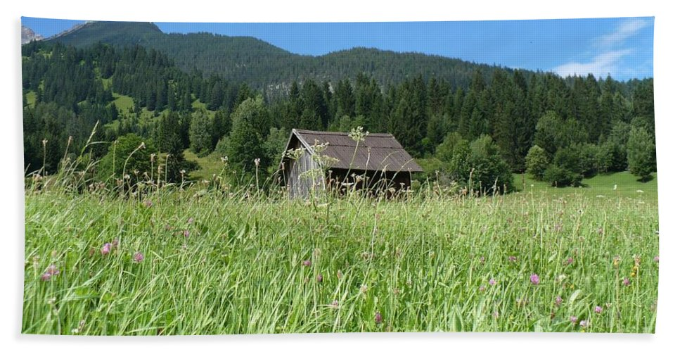 Alpine Beach Sheet featuring the photograph Alpine Meadow by Carol Groenen