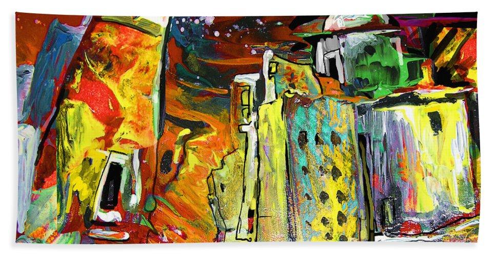 Altea Beach Towel featuring the painting Altea Dream 02 by Miki De Goodaboom
