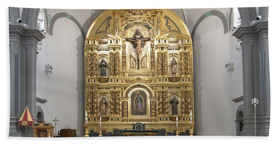 Architecture Beach Towel featuring the photograph Alter San Juan Capistrano by Bob Christopher
