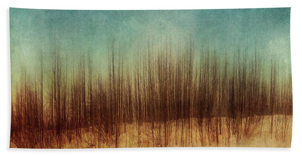 Minimal Beach Towel featuring the photograph Amber And Blues by Priska Wettstein