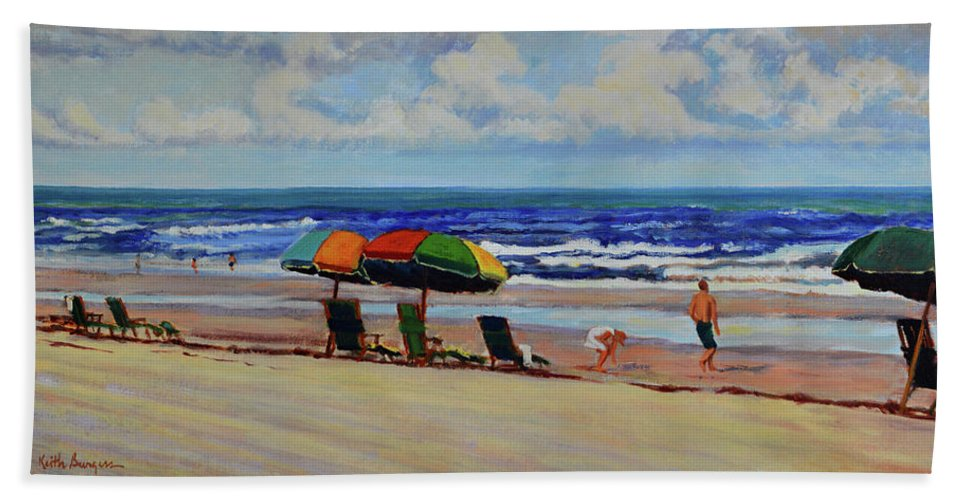 Impressionism Beach Sheet featuring the painting Amelia Afternoon by Keith Burgess