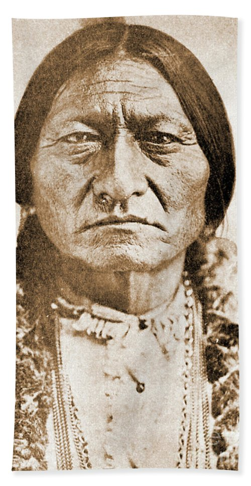 American Beach Towel featuring the photograph American Indian Chief by Gary Wonning