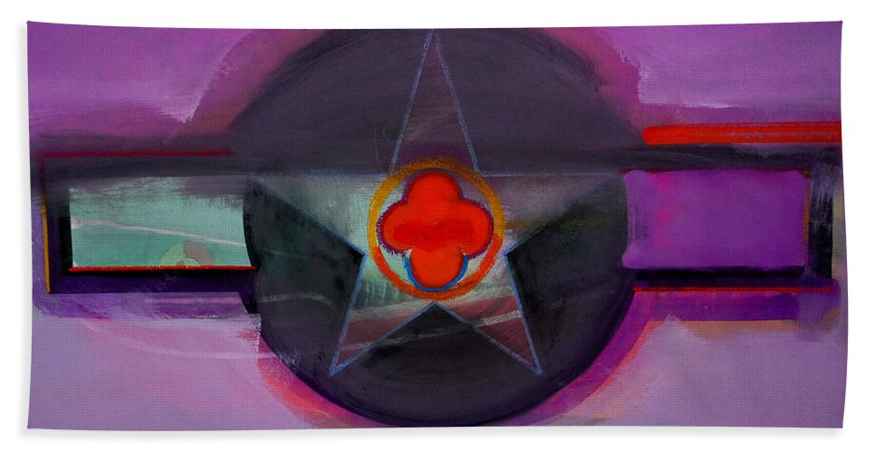 Star Beach Towel featuring the painting American Lilac by Charles Stuart
