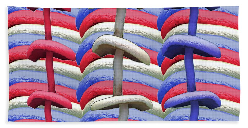 American Beach Sheet featuring the photograph American Mushrooms by Rockin Docks Deluxephotos