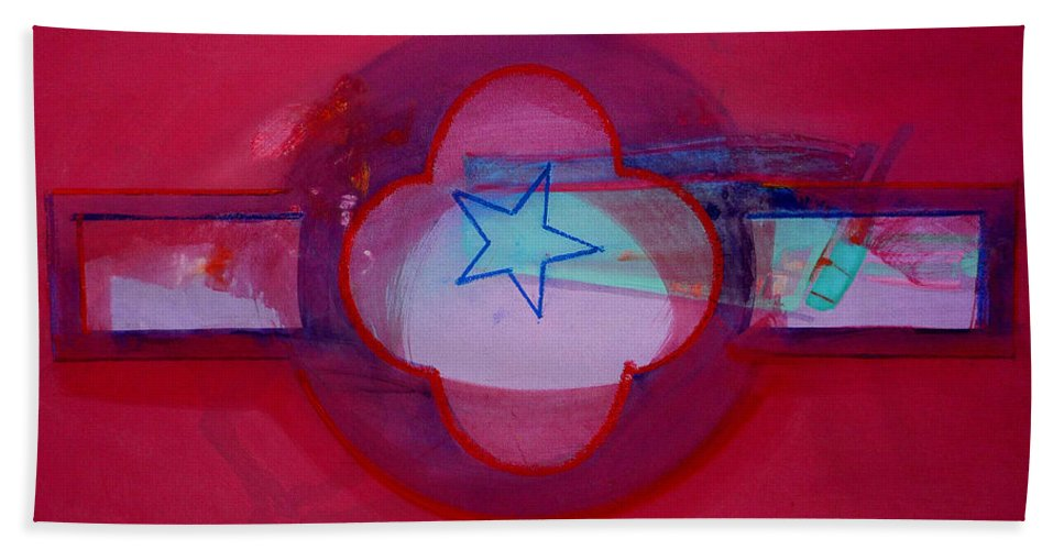 Star Beach Towel featuring the painting American Star Of The Sea by Charles Stuart