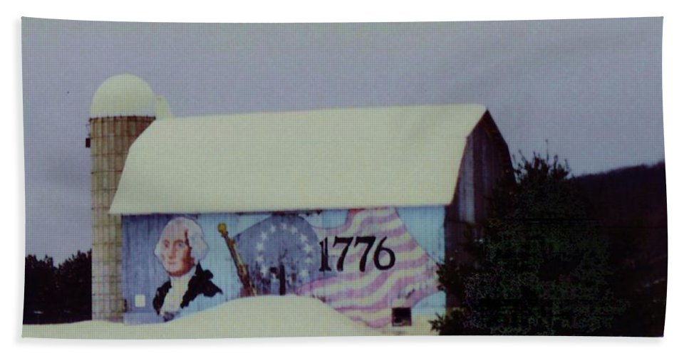 America Beach Towel featuring the photograph Americana Barn by Desiree Paquette