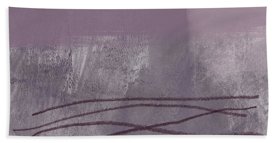 Abstract Beach Towel featuring the painting Amethyst 1- Abstract Art By Linda Woods by Linda Woods