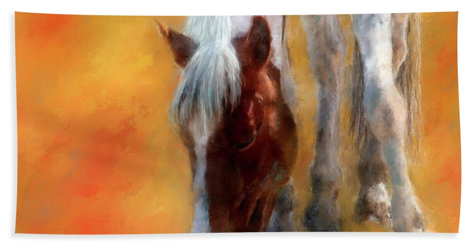 Horse Beach Towel featuring the painting Amethyst by Colleen Taylor