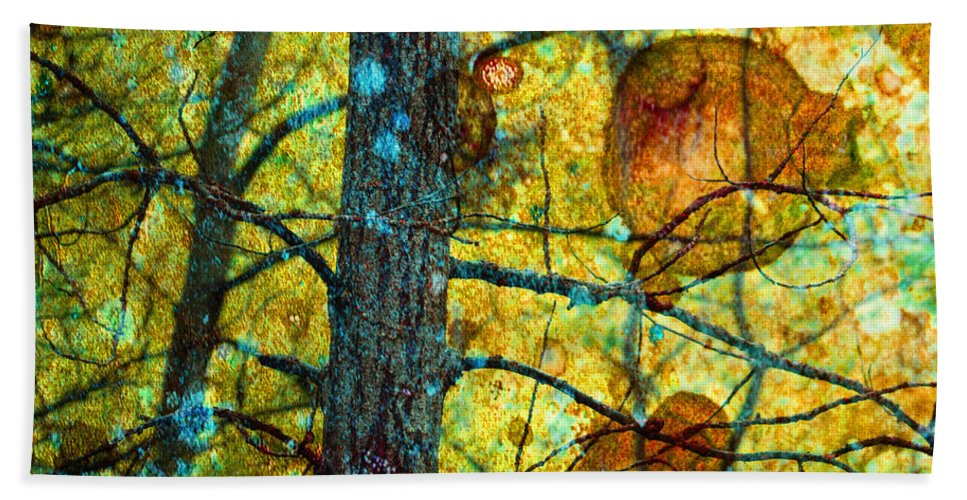 Texture Beach Towel featuring the photograph Amongst The Branches by Tara Turner